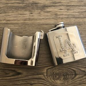 Other - Container flask belt buckle silver rodeo cowboy